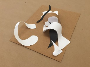 Paper Sculpture (Construction Deconstruction Series), 2016, Paper, 8x10 in