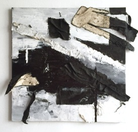 The Power of Black and White, 2015, Acrylic and canvas on canvas, 20x20 in