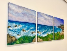 California dreaming, triptych 2016, Acrylic on canvas, 18 x 18 in each