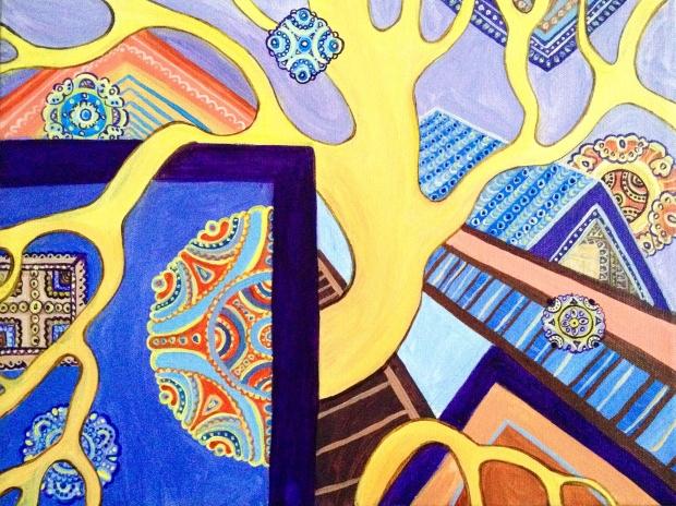 Winter Wonderland, 2015, Acrylic on canvas, 9 x 11 in