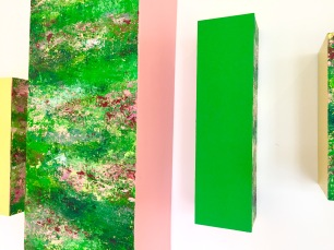 Magic Color Bursts Installation, 2017, Acrylic on mesonite and plywood, National Academy, NYC, detail