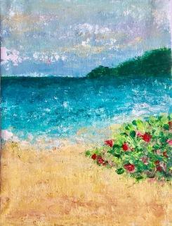Memories of Culebra, 2017, Acrylic on canvas, 8 x 10 in