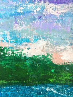 Paradise Quadriptych (1 of 4). MCB series, 2016, Acrylic on canvas, 8 x 10 in each, detail