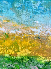 Paradise Quadriptych (3 of 4). MCB series, 2016, Acrylic on canvas, 8 x 10 in each, detail