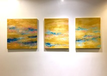Sound of the ocean I, II and III , 2017 Acrylic on canvas