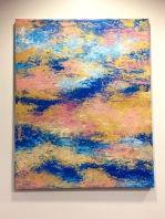Sunset sonata I, 2017, Acrylic on canvas, 24 x 36 in