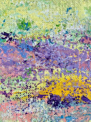 Untitled #3, MCB series, 2016, Acrylic on canvas , 9 x 12 in (7 x 9 in framed, frame 11 x 14 in), detail